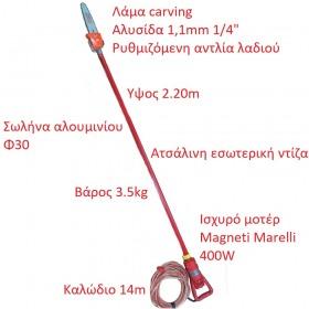 Κονταροπρίονο 12v κατασκευής μας. Σε ύψος  2.20cm (VIDEO) (2133)